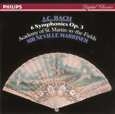 J.C. Bach: 6 Symphonies, Op. 3