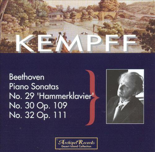 Kempff Plays Beethoven, Vol. 1