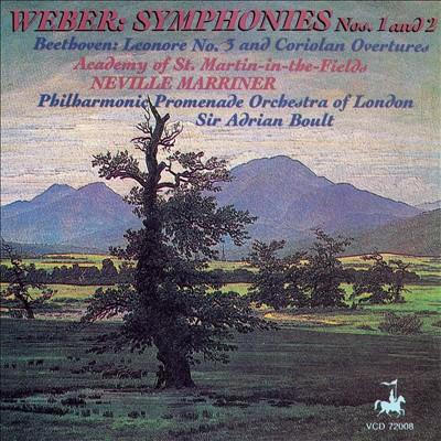 Weber: Symphonies Nos. 1 & 2; Beethoven: Overtures