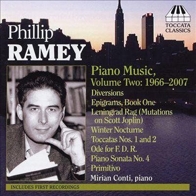 Phillip Ramey: Piano Music, Vol. 2: 1966-2007