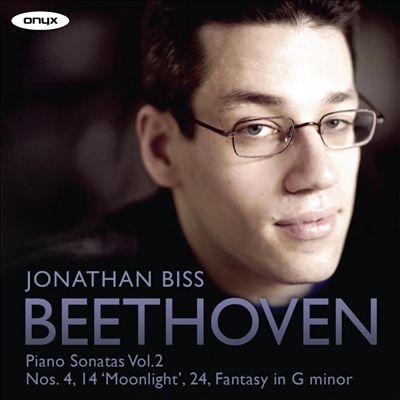 Beethoven: Piano Sonatas, Vol. 2 - Nos. 4, 14 'Moonlight', 24, Fantasy in G minor