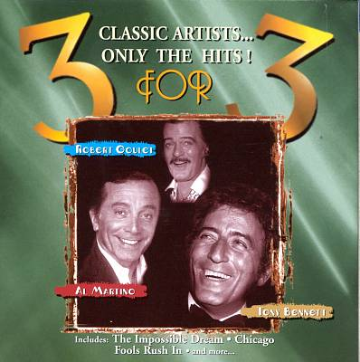 3 for 3: Robert Goulet, Tony Bennett & Al Martino