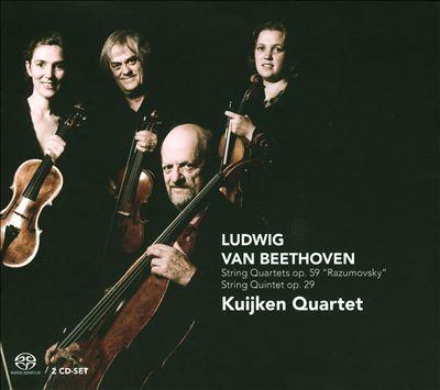 Beethoven: String Quartets, Op. 59 'Razumovsky'; String Quintet, Op. 29