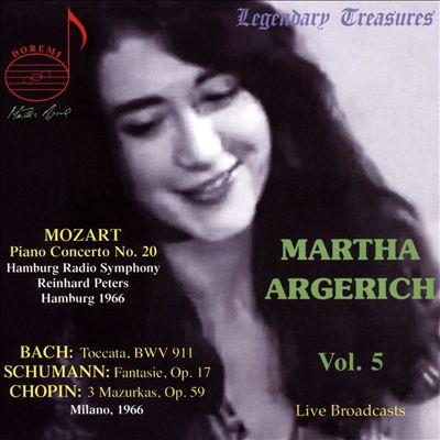 Martha Argerich, Vol. 5: Mozart, Bach, Schumann, Chopin