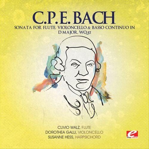 C.P.E. Bach: Sonata for Flute. Violoncello & Basso continuo in D major