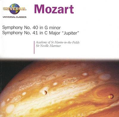"Mozart: Symphonies Nos. 40 in G minor & 41 in C major ""Jupiter"""