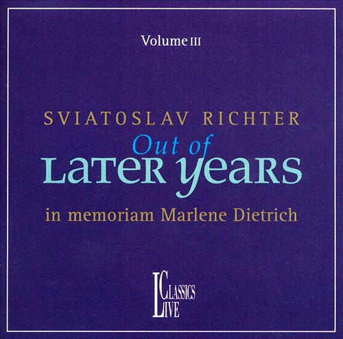 Sviatoslav Richter Out of Later Years