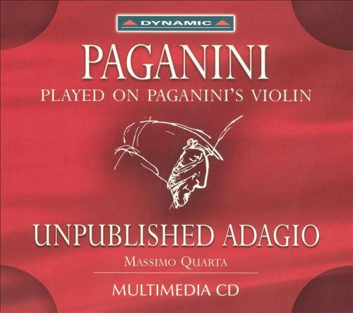 Paganini: Unpublished Adagio [Multimeida CD]
