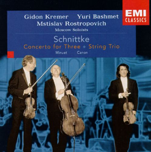 Schnittke: Concerto for Three; String Trio; Minuet; Canon
