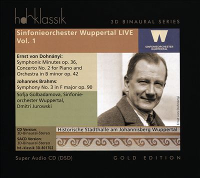 Dohnányi: Symphonic Minutes Op. 36; Concerto No. 2 for Piano and Orchestra in B minor Op. 42; Johannes Brahms: Symphony No. 3 in F major Op. 90