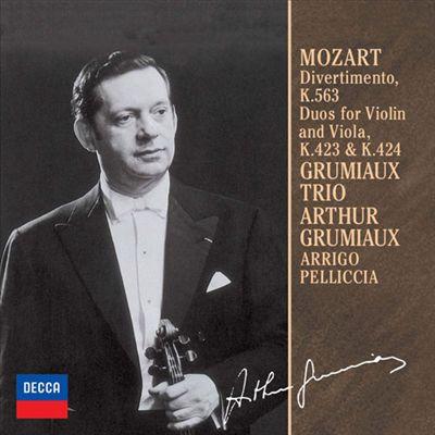 Mozart: Divertimento, K.563; Duso for Violin and Viola, K.423 & K.424