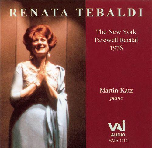 The New York Farewell Recital, 1976
