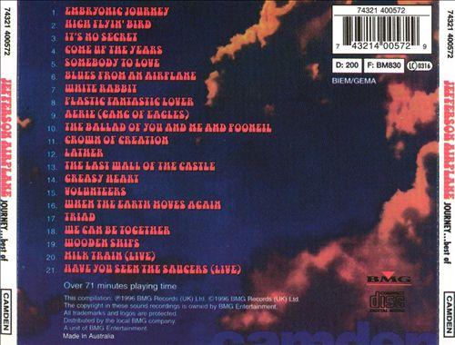 Journey: The Best of Jefferson Airplane [DJ Specialist]