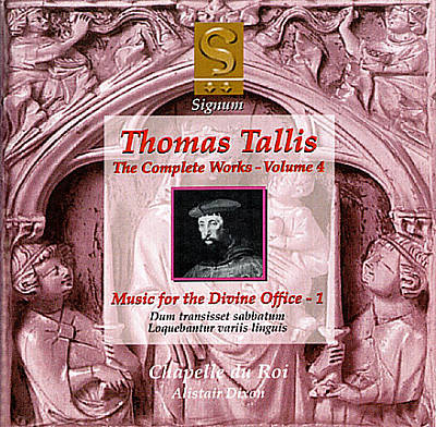 Thomas Tallis: Music for the Divine Office, Vol. 1
