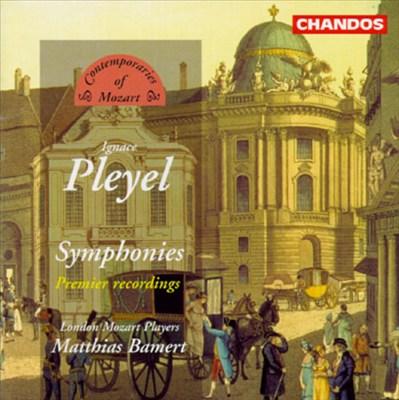 Pleyel: Symphony in C; Symphony in G; Symphony in D