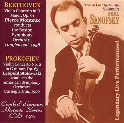 Beethoven: Violin Concerto in D; Prokofiev: Violin Concerto No. 2 in G minor