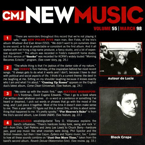CMJ New Music, Vol. 55