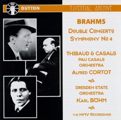 Johannes Brahms: Symphony No. 4; Concerto for Violin, Cello & Orchestra
