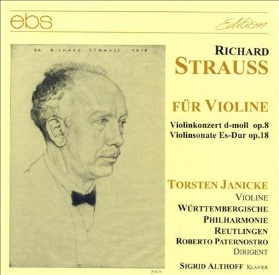 Strauss: Violin Concerto & Sonata