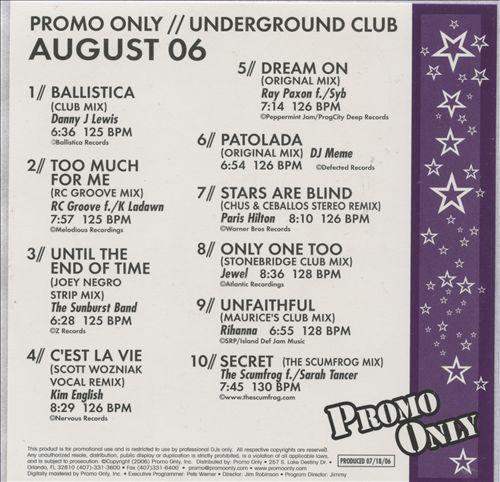 Promo Only: Underground Club (August 2006)