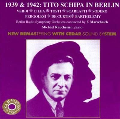 Tito Schipa in Berlin