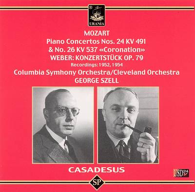 "Mozart: Piano Concertos No. 24 KV 491 & No. 26 KV 537 ""Coronation""; Weber: Konzertstück Op. 79"