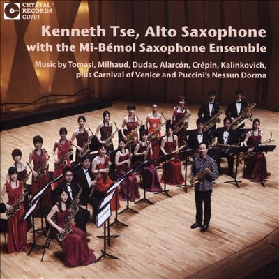 Kenneth Tse, Alto Saxophone with the Mi-Bémol Saxophone Ensemble