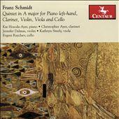 Franz Schmidt: Quintet in A major for Piano Left-hand, Clarinet, Violin, Viola and Cello