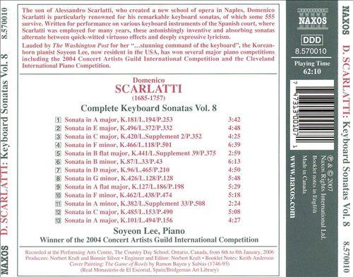 Domenico Scarlatti: Complete Keyboard Sonatas, Vol. 8