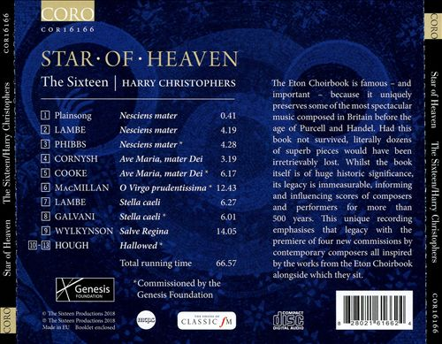 Star of Heaven: The Eton Choirbook Legacy