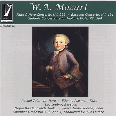 Mozart: Flute & Harp Concerto; Bassoon Concerto; Sinfonia Concertante for Violin & Viola