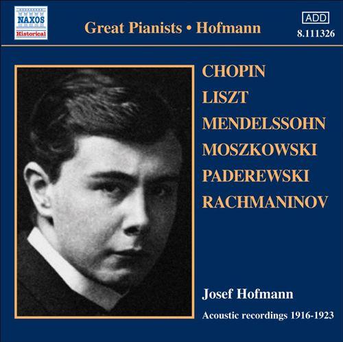 Josef Hoffman: Acoustic Record