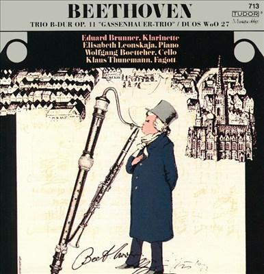 Beethoven: Trio Op. 11; Duos WoO27