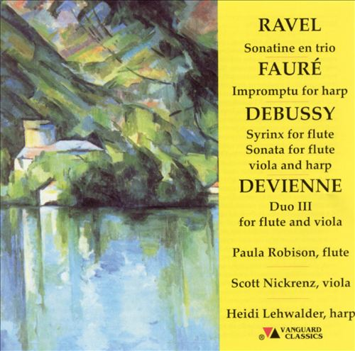 Ravel, Fauré, Debussy, Devienne: Music for flute, viola & harp