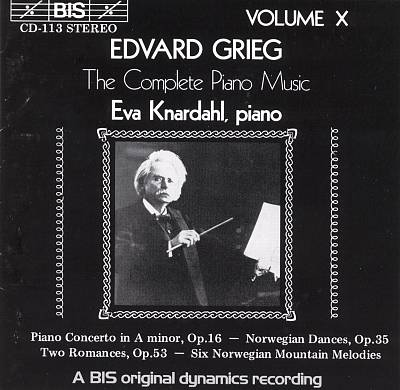 Grieg: The Complete Piano Music, Vol. 10