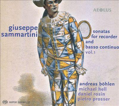 Giuseppe Sammartini: Sonatas for Recorder and basso continuo, Vol. 1
