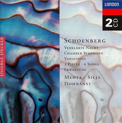 Arnold Schoenberg: Verklärte Nacht; Chamber Symphony; Variations; 5 Pieces; 6 Songs; Erwartung
