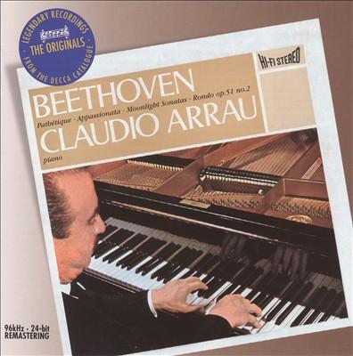 Beethoven: Pathétique, Appassionata & Moonlight Sonatas
