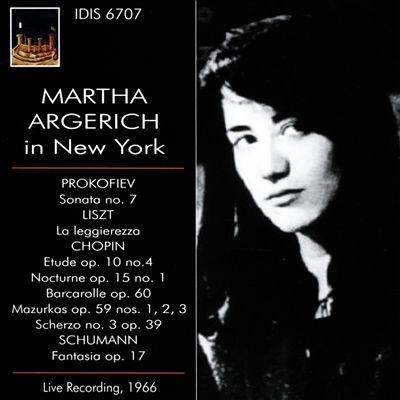 Martha Argerich in New York, 1966