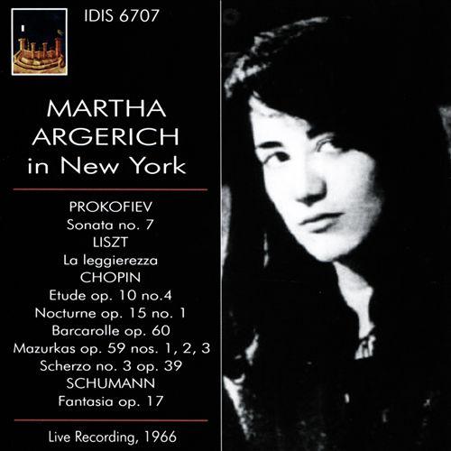 Martha Argerich in New York, 1966