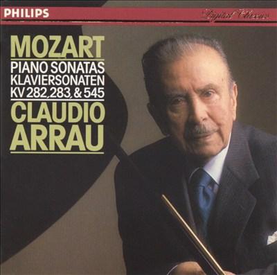 Mozart: Piano Sonatas KV 282, 283, & 545