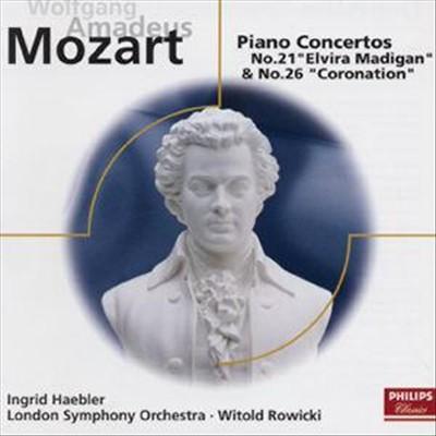 "Mozart: Piano Concertos Nos. 21 ""Elvira Madigan"" 26 ""Coronation"""