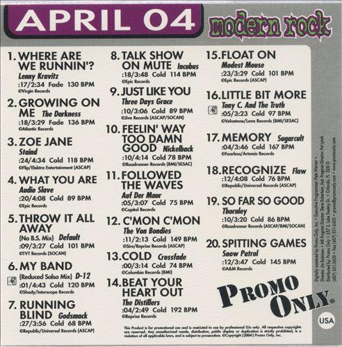 Promo Only: Modern Rock Radio (April 2004)