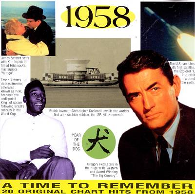 1958: A Time to Remember, 20 Original Chart Hits
