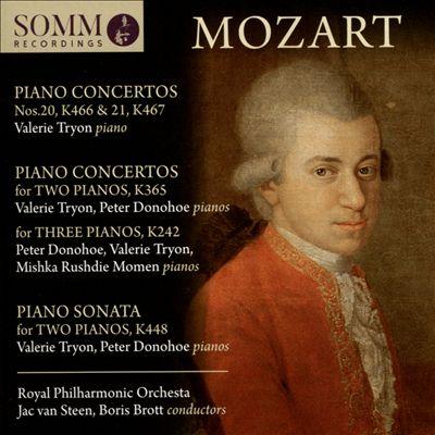Mozart: Piano Concertos Nos. 20, K 466 & 21, K 467; Piano Concerto for Two Pianos, K 365; Piano Concerto for Three Pianos, K 242