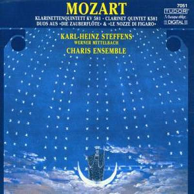 "Mozart: Klarinettenquintentt KV 581; Duos aus ""Die Zauberflöte"" & ""Le Nozze di Figaro"""