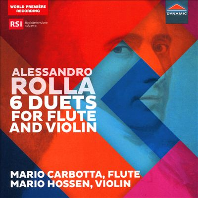 Alessandro Rolla: 6 Duets for Flute and Violin
