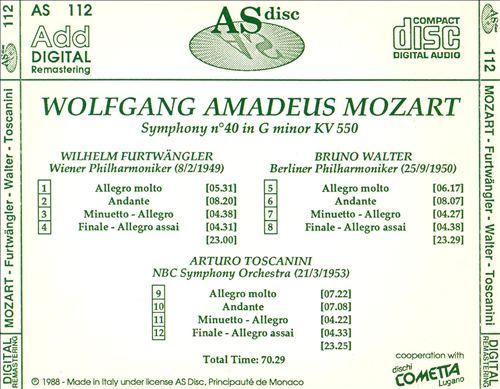 Mozart: Symphony No. 40 in G minor, KV 550