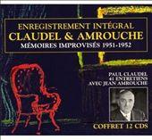 Memoires Improvises 1951-1952