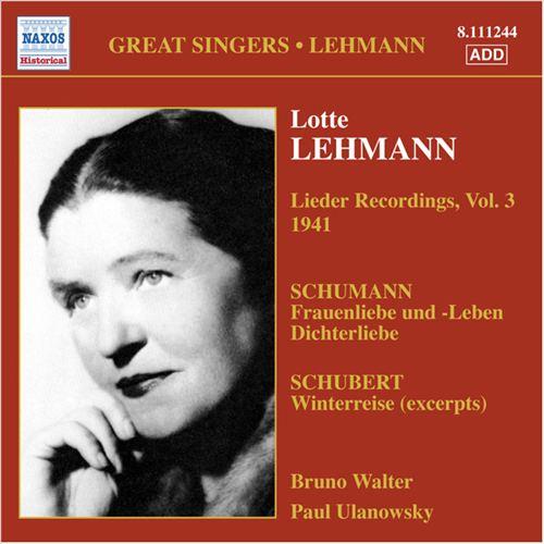 Schmann, Schubert: Lieder Recordings, Vol. 3
